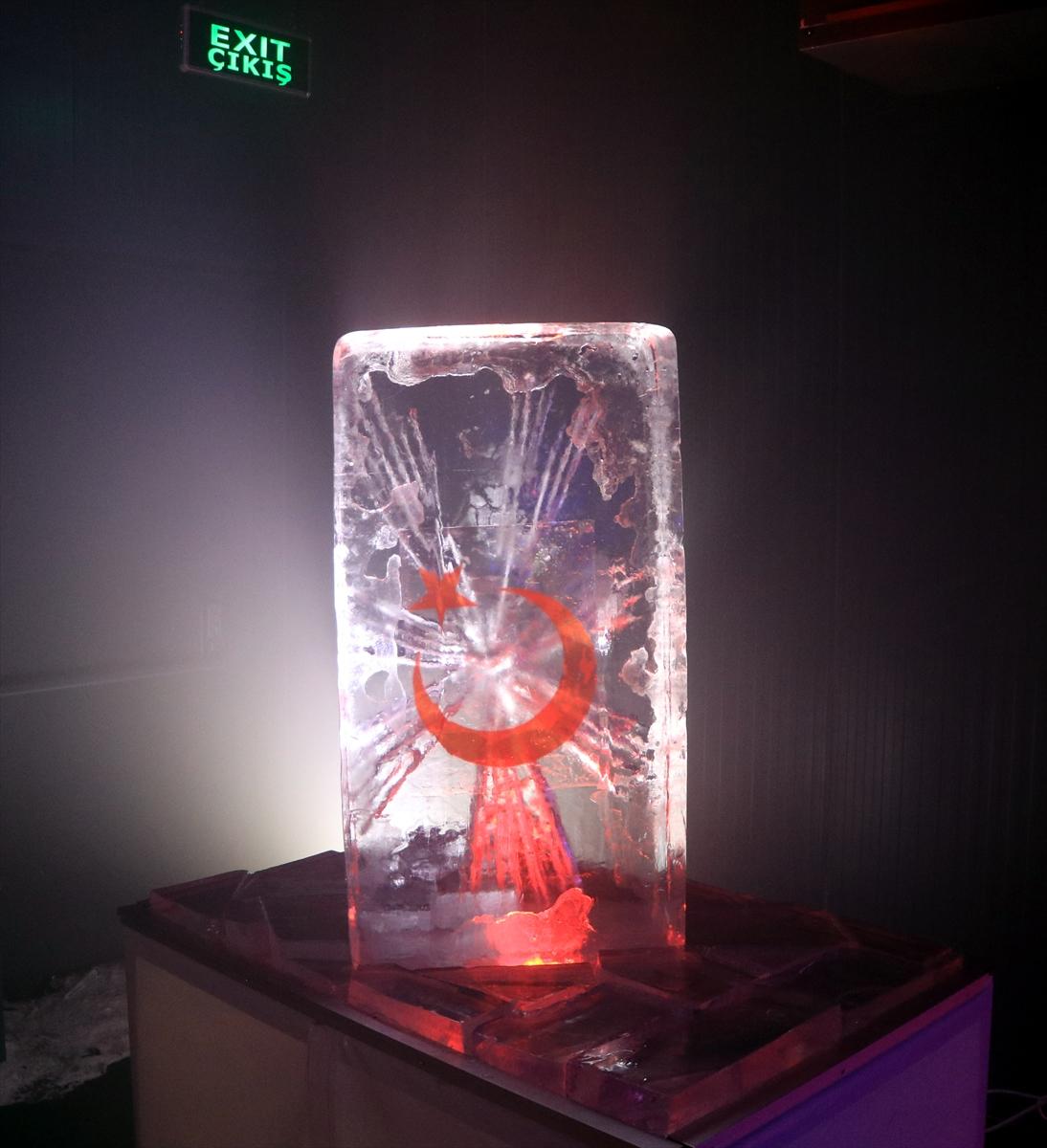 Erzurum'da Türkiye'nin ilk buz müzesi açıldı #3