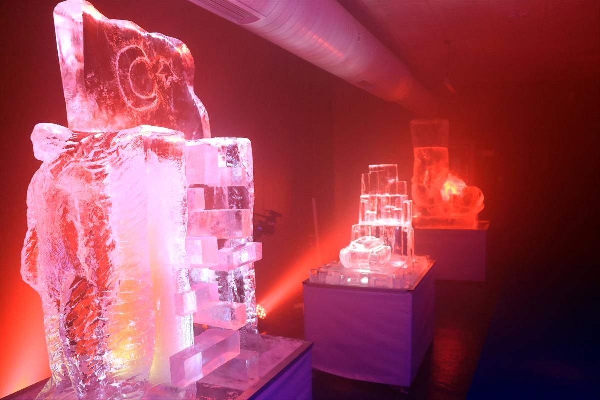 Erzurum'da Türkiye'nin ilk buz müzesi açıldı #6