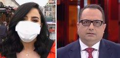 Eminönü'ndeki yoğunluğu anlatan muhabire canlı yayında küfür! Apar topar yayından çıktılar